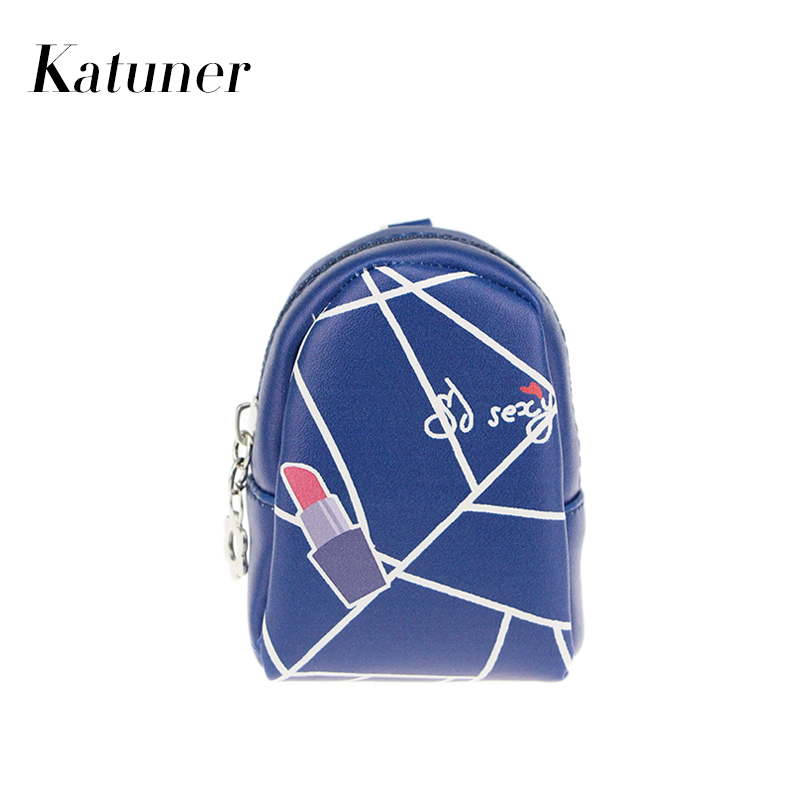 Katuner New Fashion Red Lips Zipper Coin Purses Women PU Leather Mini Wallet Children Kids Coin Bag Girls Purse Monederos KB018
