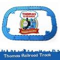 New160cm Thomas y sus amigos de vía de tren Set para Take-n-Play metal fundido a troquel trenes ferrocarril ferrocarril juguetes clásicos plástico ranura 12 unids