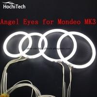 HochiTech Ccfl Angel Eyes Kit White 6000k Ccfl Halo Rings Headlight For FORD Mondeo MK3 2001
