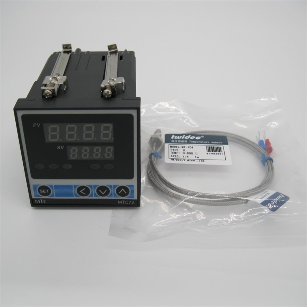 High Quality Mtc72 Dual Digital Pid Temperature Control Controller Wiring To The Thermostat Thermometer Output Ssr 72 X 72mm Thermocouple In Instruments From