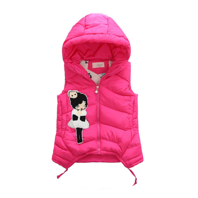 Image 3 - Child Waistcoat Children Outerwear Winter Coats Vest for Girls Kids Clothes Fashion Warm Cotton Teen Girl Vest Jacket 5 12Y-in Vests from Mother & Kids