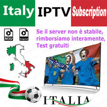 Best Stable IPTV m3u subscription iptv italy German French Poland Romani subscription Enigma2 Mediaset Premium Smart TV VLC(China)