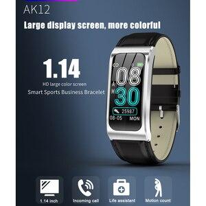 Image 2 - Intelligente wristband AK12 IPS schermo a colori fitness Bluetooth braccialetto per gli uomini/donne sfigmomanometro ciclo mestruale attività monitor