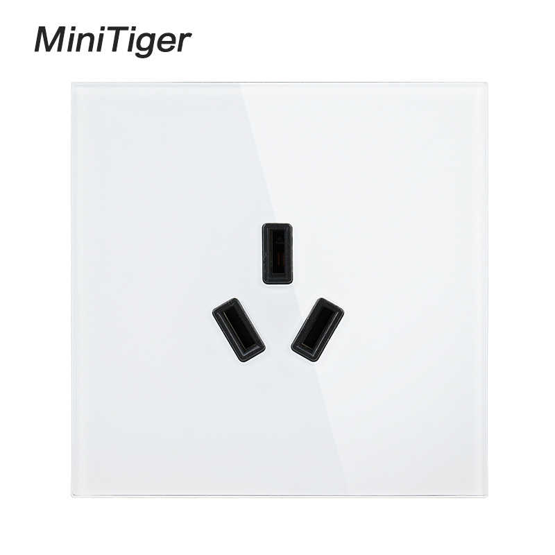 Minitiger 3 pôles AU Standard climatisation mur panneau de verre prise de courant pour chauffe-eau panneau de prise électrique 16A 250 V