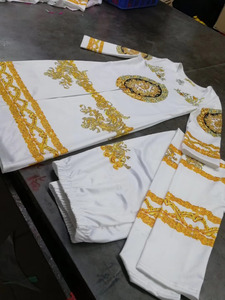 Image 4 - 2019 New African Print Elastic Bazin Baggy Pants Rock Style Dashiki SLeeve Famous Suit For Lady/women coat and leggings 2pcs/se