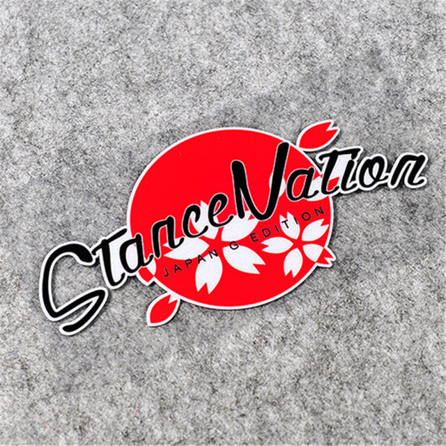 Japan g edition stance nation car stickers japanese auto window motorcycle helmet vinyl decals 16x8cm