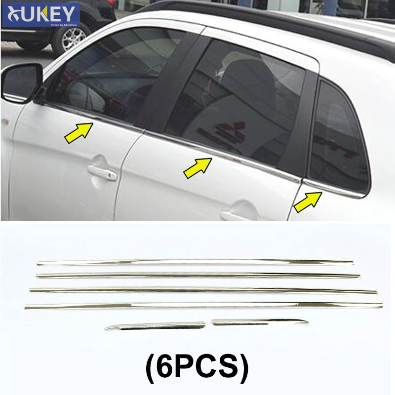 2010-2016 For Mitsubishi RVR//ASX//Outlander Sport ABS Chrome Side Door Handles Cover Trim Decoration