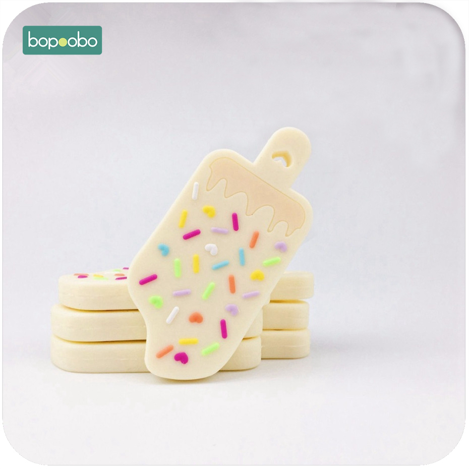 Bopoobo Silicone Popsicle Shaped Pendant Sensor Tool 1pc Craft Supplies & Tools Materials Charms Teething Jewelry Baby Teether