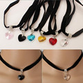 Big Sales Hot Worldwide Fashion Simple Black Chains Heart Choker Necklace Women Collares Necklaces & Pendants Bijoux Femme Gift