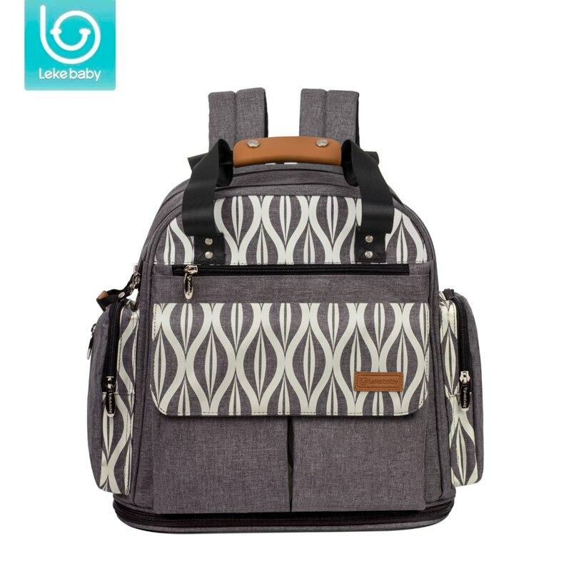 Lekebaby évolutif agrandir maman maternité sac à langer voyage sac à dos grand sac d'allaitement Designer poussette bébé sac bébé soin couche