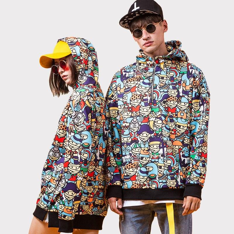 Plus size 8XL 7XL 6XL Autumn Men pullover street hip hop Hoodies Graffiti Lovers Couples Sweatshirts Sportswear Women Hoodies hoodie