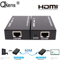 1080P HDMI Extender Splitter Extend HDMI Signal To 60m By Single Ethernet Lan RJ45 CAT5E CAT6 Network Cable Extension Cord TX RX