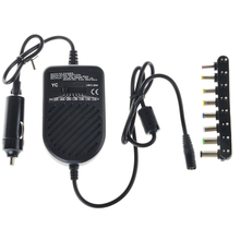 Universal 80W DC Car Charger Laptop Notebook Adapter Adjustable LED Auto Power Supply Set + 8 Detachable Plugs Computer Charger