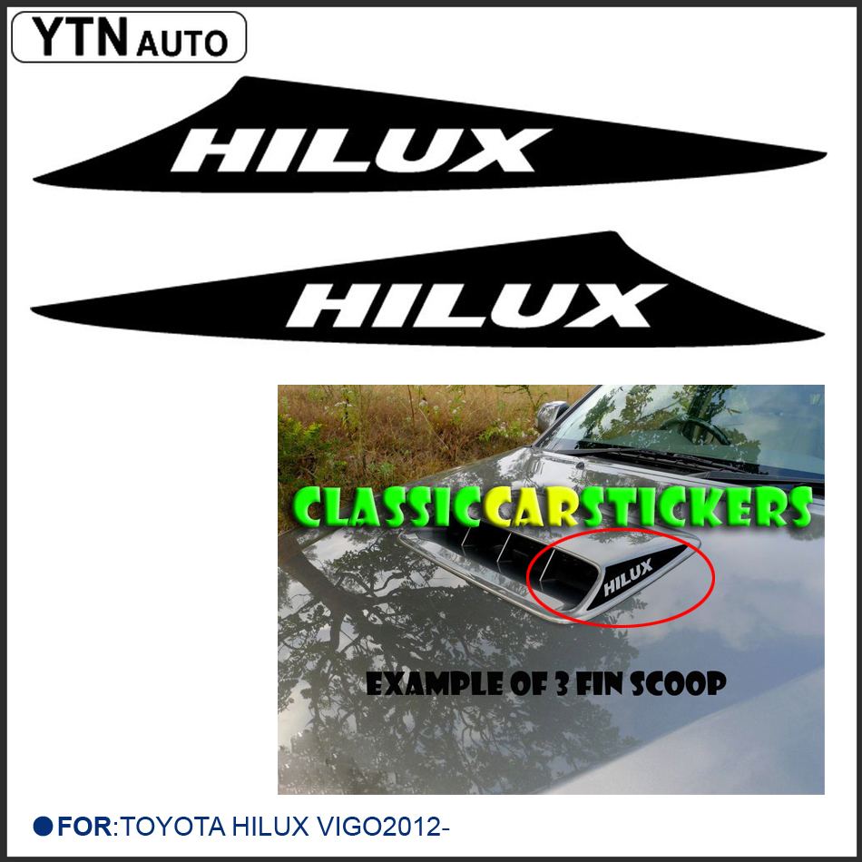2pc free shipping D4D TURBO Decal Sticker For TOYOTA HILUX VIGO 2012 Bonnet Scoop with KK SIGN VINYLS Щипцы