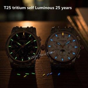 Image 3 - Часы мужские механические в стиле милитари, роскошные брендовые светящиеся в стиле тритиум T25, водонепроницаемые полностью стальные