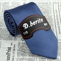 Azul marinho de 3.15 ''de Largura de Seda Tecido Jacquard Clássico do Homem Magro Gravata do laço JS19