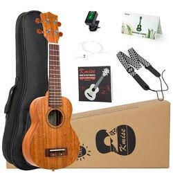 Kmise ukulele ukelele kit soprano concerto tenor mogno uke 21 23 26 30 4 cordas guitarra com saco de show tuner cinta para iniciantes