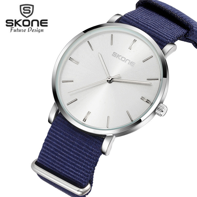 Skone Nylon Lovers Fashion Men & Women Canvas Wrist Watches Simple Casual ladies Clock Watch Men relogio feminino masculino 2017 skone relogio 9385