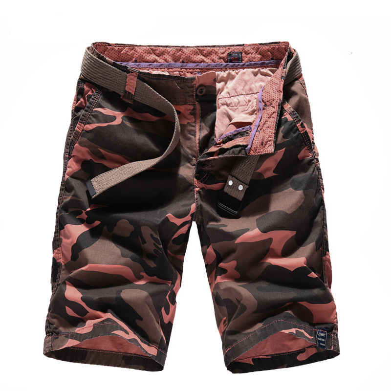 MORUANCLE New Men Casual Camo Cargo Shorts Military Style Camouflage Tactical Short Joggers Bermuda 100% Cotton Size 30-40
