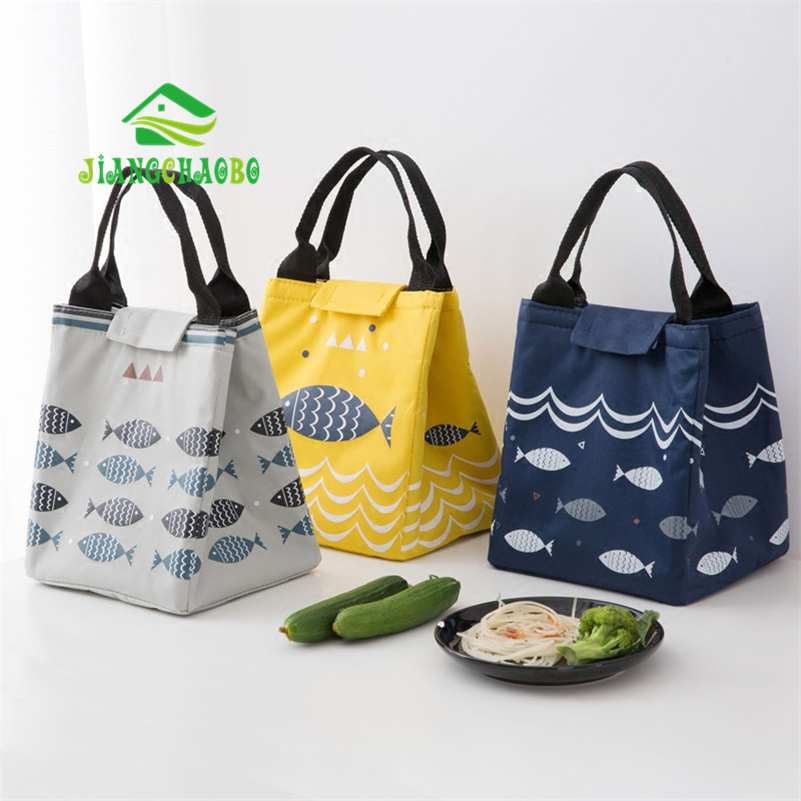 JiangChaoBo Oxford Cloth Lunch Bag Thickening Cooler Bag Lunch Bag Handbag Lunch Bag Box Bag Handbag
