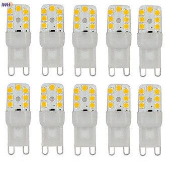 цена на IWHD 10pcs 2W 2W 100-150lm G9 LED Bulb G9 220V 14xSMD3528 Dimmable LED Lamp G9 220V Warm White White 110V-220V