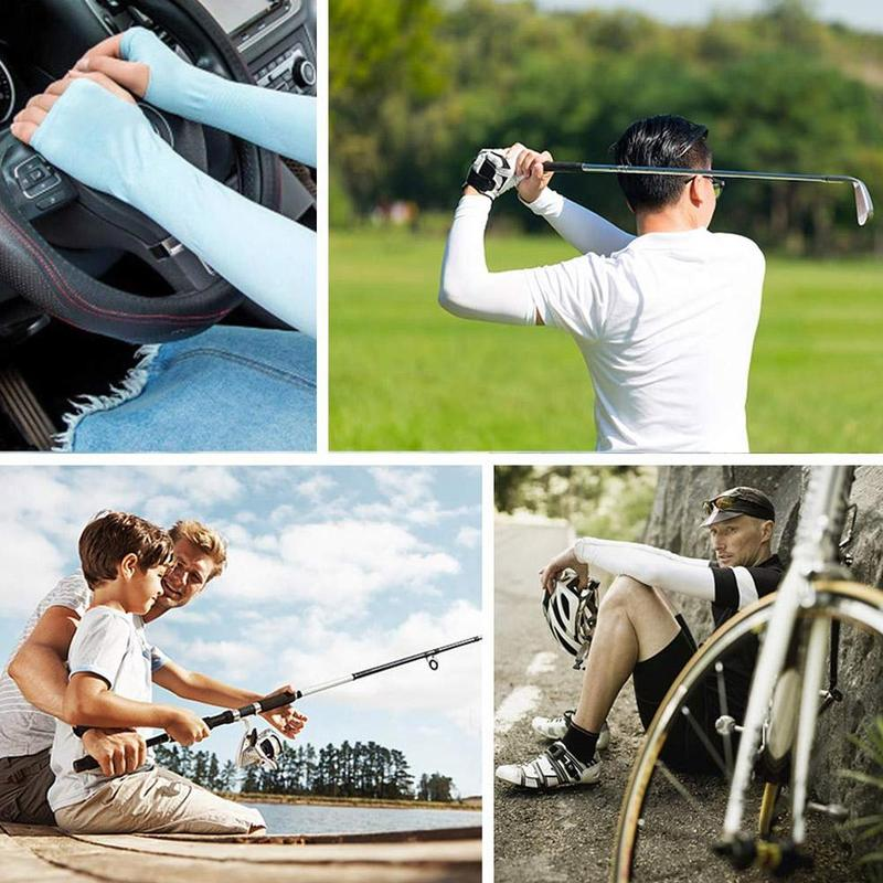 1 Pair Men Women Arm Sleeves Summer Sun UV Protection Cycling Running Fishing Clambing Driving Arm Cover Hot Sale Dropshipping 2