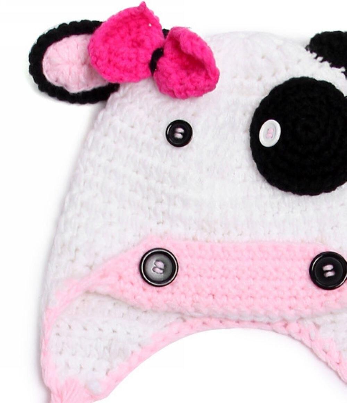 Bebé vaca traje sombrero Animales de granja Rosa negro vaca flap ...