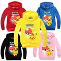 Ropa de los muchachos hoodie Elf bebé suéter de algodón niños ropa para niños con capucha de manga larga Camiseta niños tops tee POKEMON IR F9