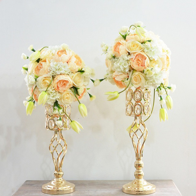 Crystal Table Centerpiece Flower Vase Flower Stand Candle Holders Wedding Party Decoration 10pcs/lot A Complete Range Of Specifications Home Decor