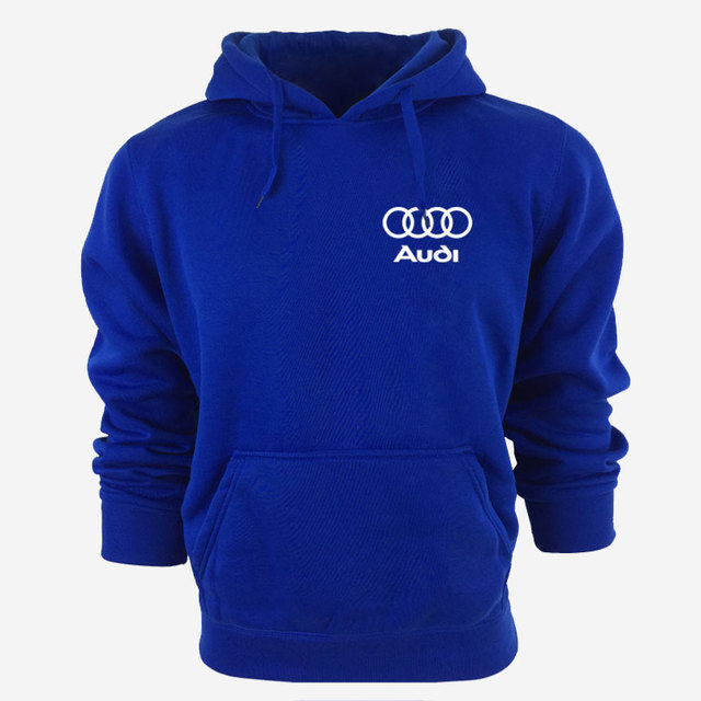 Hooded Sweatshirt With Audi Logo (5 colors)