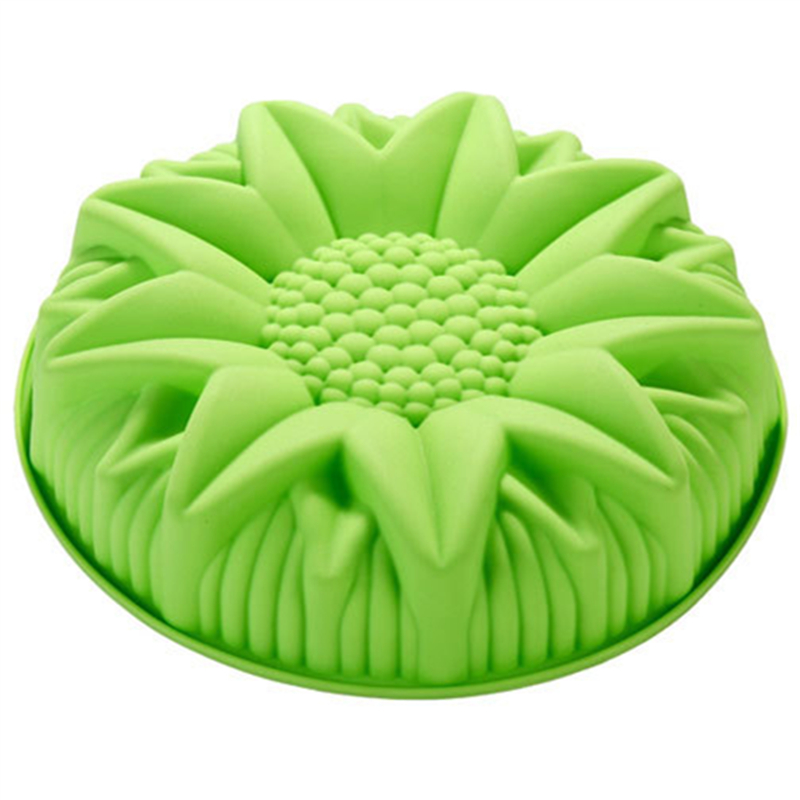 DIY Cake Pastry Moulds Wholesale Cute Large Sunflower Silicone Cake Mold Dessert Molds E067