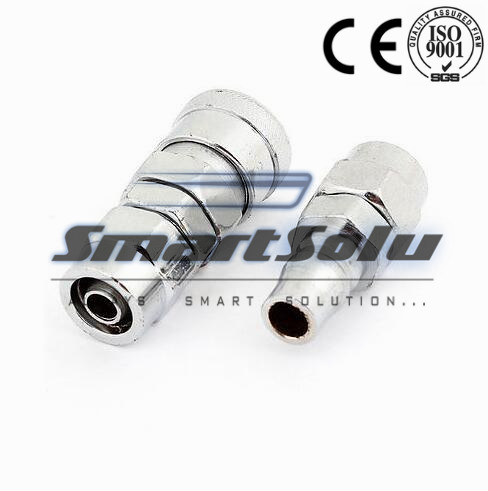Free shipping Pneumatic 2 in 1 Silver Tone SP40 Socket PP40 Plug Quick Release Connector Adapter SetsFree shipping Pneumatic 2 in 1 Silver Tone SP40 Socket PP40 Plug Quick Release Connector Adapter Sets