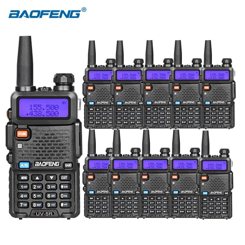 10 pz Baofeng uv-5r walkie talkie VHF UHF DUAL BAND HAM Rádió - Kézi adóvevő