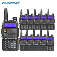 10 pz Baofeng uv 5r walkie talkie VHF UHF DUAL BAND HAM Radio professional cb radio baofeng uv5r portable radio for hunting