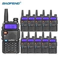 10 pz Baofeng uv 5r walkie talkie VHF UHF DUAL BAND HAM Radio professional cb radio baofeng uv5r portable radio for hunting