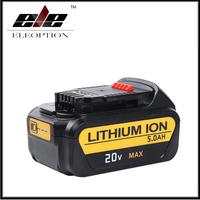 High Capacity 5000mAh 20V For Dewalt Replacement Battery For DCB200 DCB181 DCB182 DCB204 2 Li Ion
