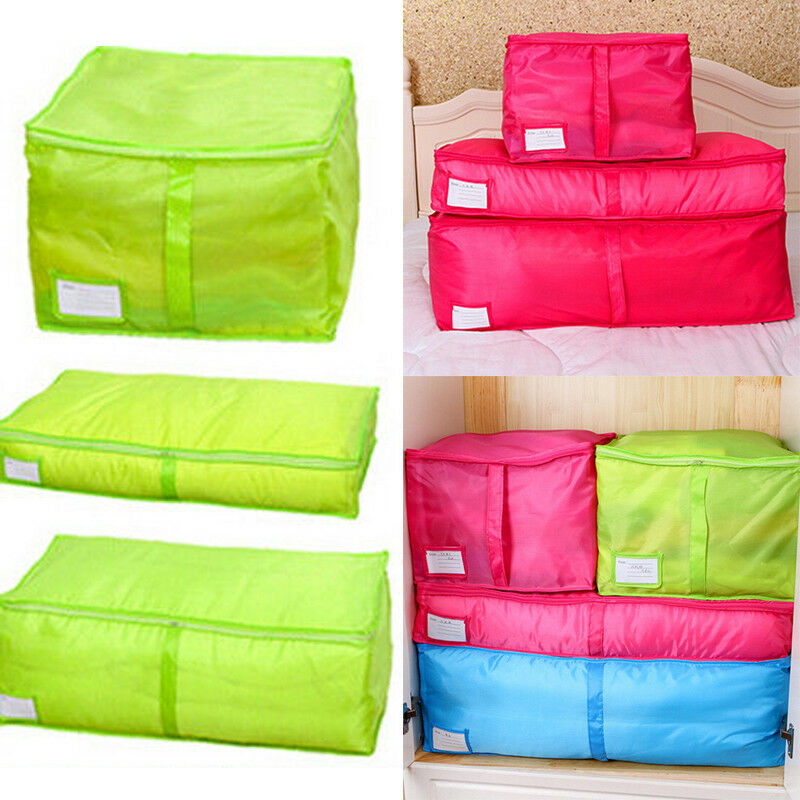 US Home Storage Bag Foldable Clothes Sweater Blanket Quilt Closet Organizer Box