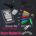 Hot! Tattoo Makeup Rotary Machine Kits Digital Controlled Power Supply 20 Needles Assorted Tattooing Equipment Set