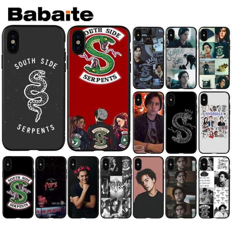 Babaite American TV Riverdale Series Cole Sprouse TPU Soft Phone Case for iPhone 5 5Sx 6 7 7plus 8 8Plus X XS MAX XR