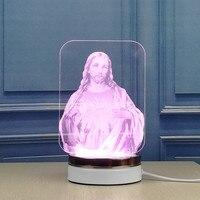 3D table lamp Jesus LED light The Catholic church Christmas gift indoor lighting deak lamp shade bed room desk Office table lamp