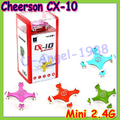 Gift Idea Cheerson CX-10 CX10 2.4G Remote Control Toys 4CH 6Axis RC Quadcopter rc helicopters+free shipping