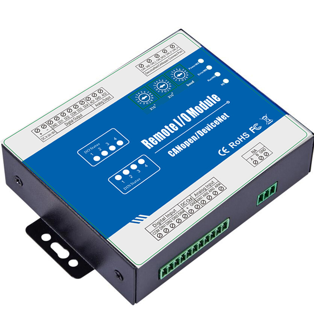 Fieldbus Remote Module Supports standard CANopen Protocol comply with CANopen specification CiA301,CiA401 M210C