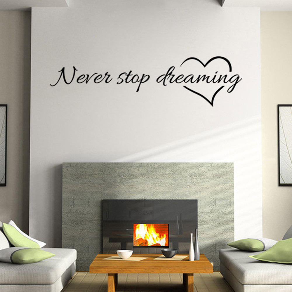 quote removable art vinyl mural home room decor wall stickers exciting