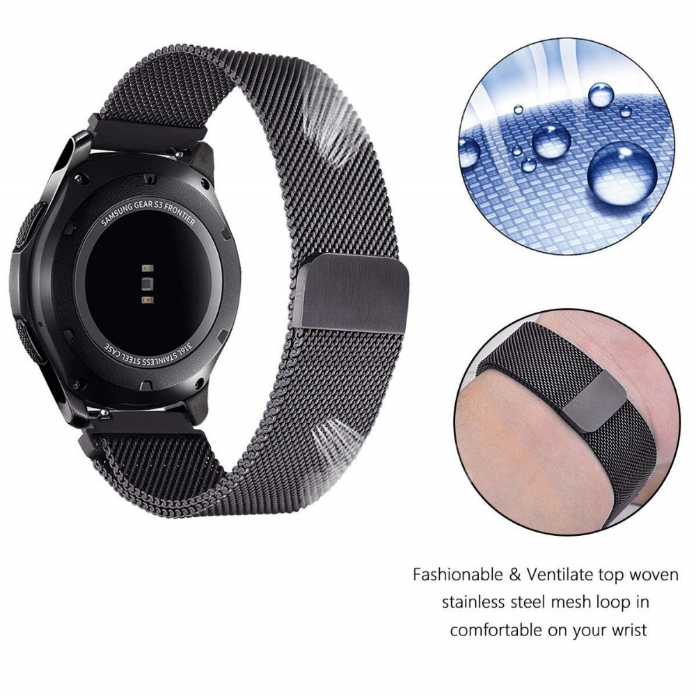 20mm 22mm Milanese Loop Strap For Samsung Gear S3 Band Galaxy Watch 46mm 42mm Active 2 44mm 40mm Strap for Huawei Watch GT 2 2E 4