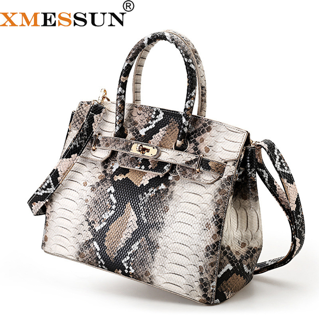 365e1f74682a Luxury Brand Leather Snake Bag For Women 2019 Luxury Handbag Women Bags  Designer Shoulder Messenger Bags