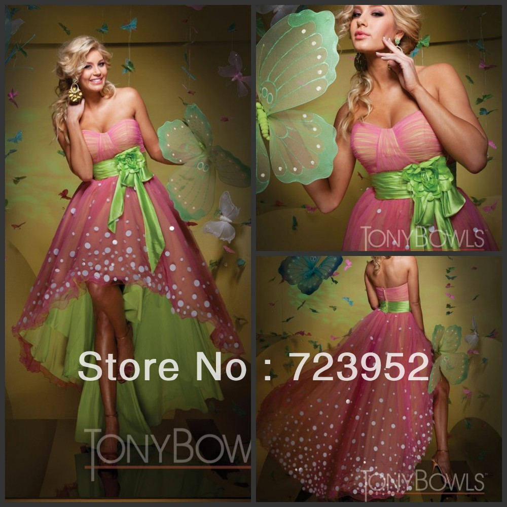 2013 hot trend the most popoular pink lime green cute dot high 2013 hot trend the most popoular pink lime green cute dot high low prombridesmaid dress in bridesmaid dresses from weddings events on aliexpress ombrellifo Choice Image
