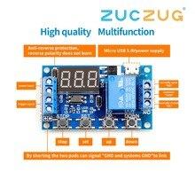 6 30V relais Module commutateur déclencheur temporisation Circuit minuterie Cycle réglable R06 livraison directe