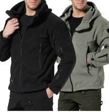 Men's fleece jacket TAD Military Tactical  Fleece Hoody Hiking Jacket Men Windstopper Sportswear Thermal  winter Army Jackets