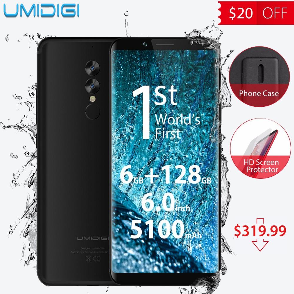 Nova Umidigi S2 Pro P25 6 GB RAM 128 GB ROM telemóvel Octa Core 6.0 'Tela Cheia 4G LTE Smartphones 5100 mAh Android 7.0 telefone