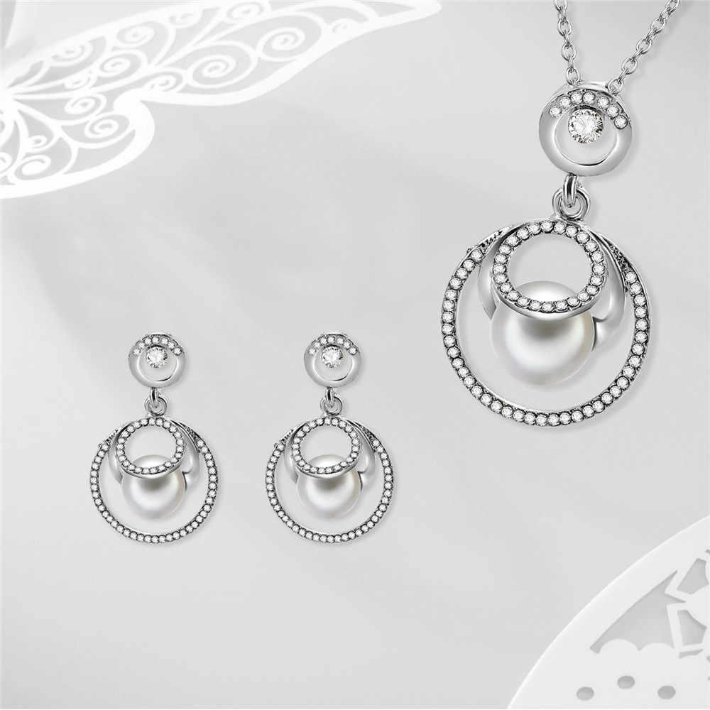 Nuevos pendientes elegantes de las señoras de la manera collar joyería excelente Simple hermosa plata 925 accesorios de la joyería z0423